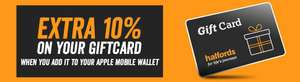 10% free when you load a gift card into Apple wallet @ Halfords