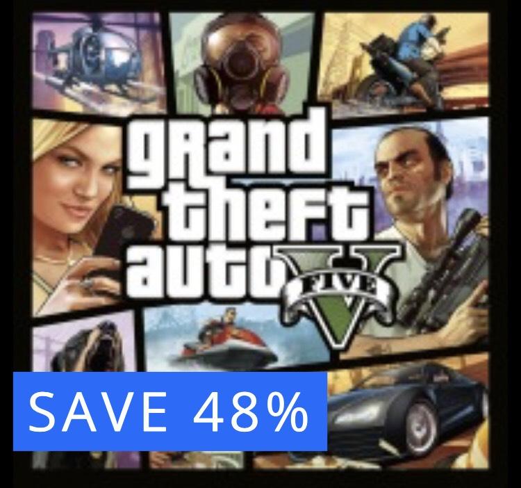 PS4 'Grand Theft Auto V'. Save 48% GTA V- £12.99 @ PSN