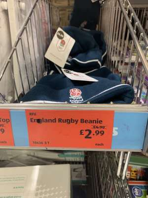 England Rugby Beanies for £2.99 @ Aldi