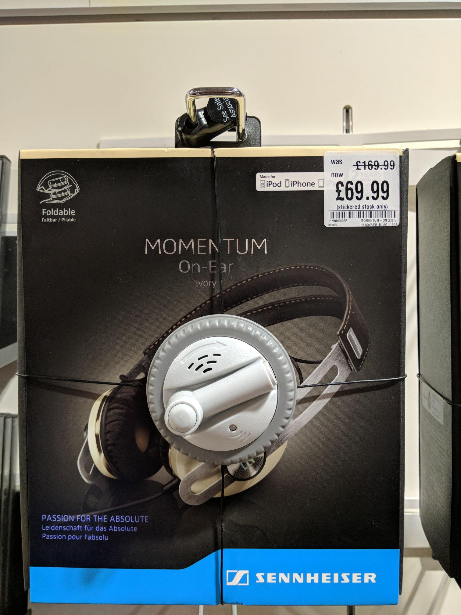 Sennheiser Momentum On-Ear foldable headphones - £69.99 instore @ HMV