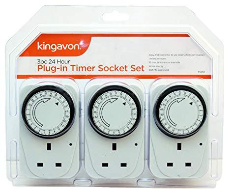 Kingavon BB-TS210 24 Hour Plug-in Timer Socket Set @ Amazon - £10.83 Prime / £15.32 Non-Prime