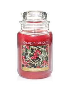 Large Hollyberry Yankee Candle Jar £13.99 at Very (Free Click & Collect) Available to Order Now / Due in Stock 6th April