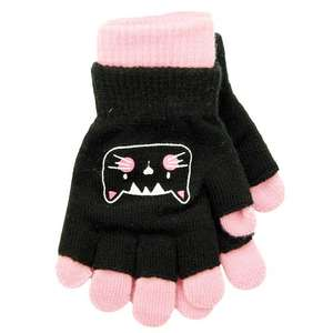 Childrens 2 in 1 gloves : cat / pinks / teal Now 50p, Ladies Sparkle Gloves 50p  @ Poundstretcher