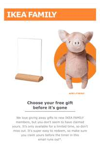 IKEA Free Gift - for new Ikea Family members only (check emails for invite)
