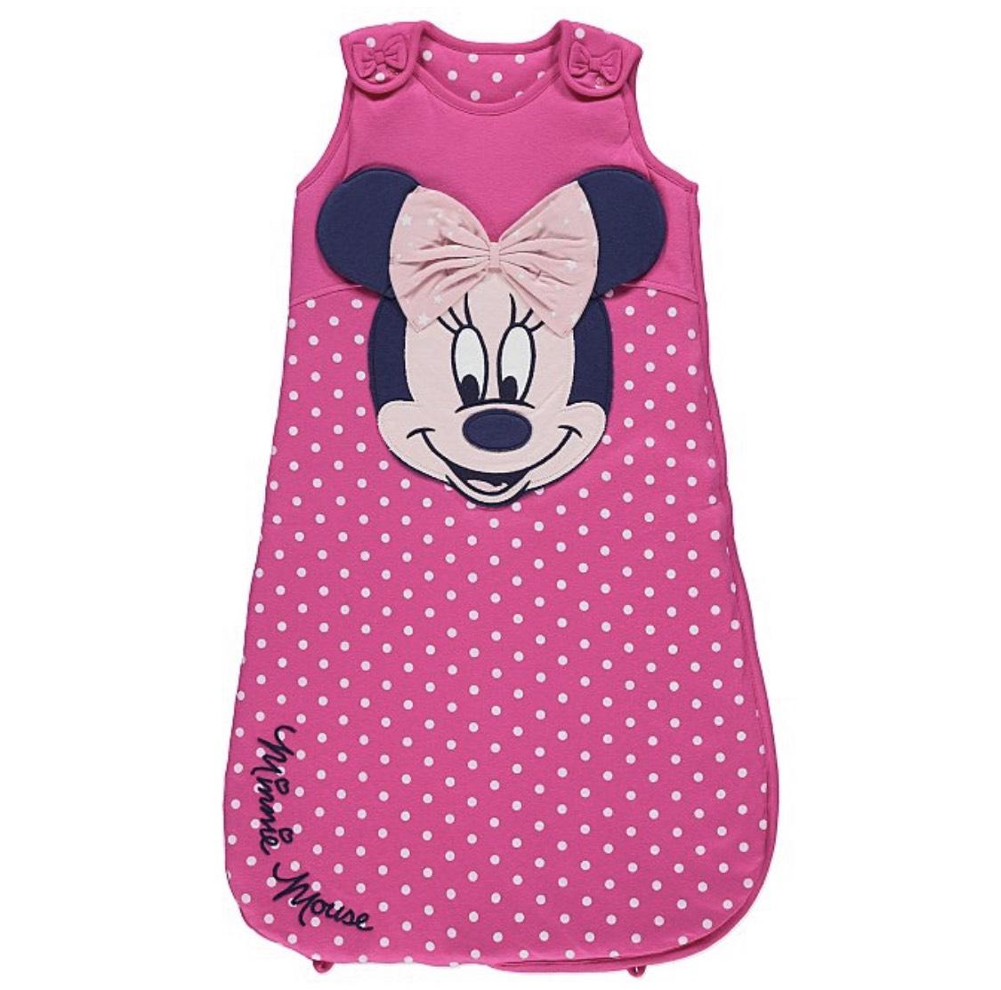 Disney Minnie Mouse Pink Polka Dot 2.5 Tog Sleeping Bag 0-6months £7 free c&c @ Asda