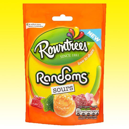 Rowntrees Randoms Sours Pouch 150G  - 59p @ Poundstretcher - Instore