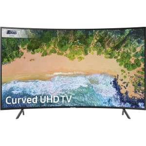 """Samsung UE55NU7300 55"""" Curved Smart 4K Ultra HD TV with HDR 469 @ AO"""