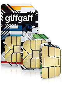 Giffgaff Triple Sim Card£0.01 @ Amazon add on item to build up free p+p
