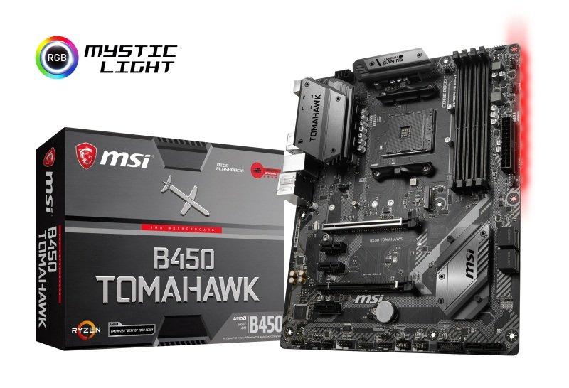 MSI B450 TOMAHAWK AM4 DDR4 ATX Motherboard - £89.99 @ Ebuyer
