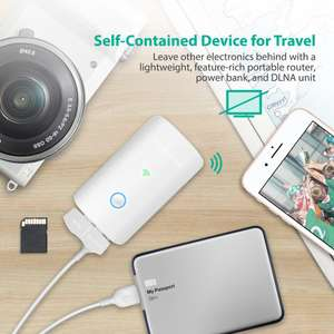 RAVPower FileHub Plus, Travel Router, USB, SD Card Reader, 6700mAh Battery £27.99 delivered Sold by Sunvalleytek-UK and Fulfilled by Amazon