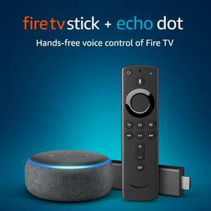 Amazon Fire TV Stick bundle with Echo Dot (3rd Gen) £49.99 Free delivery @ Amazon