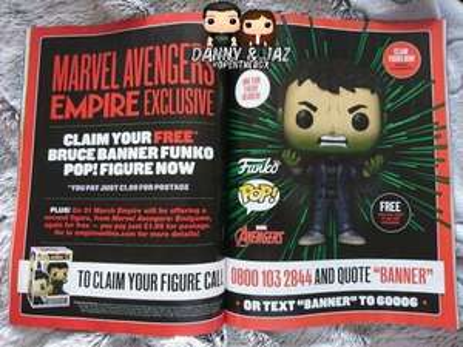 Funko Pop Vinyl , Bruce Banner Marvel Avengers, Empire magazine exclusive - Just pay £1.99 P&P