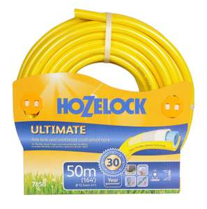 Hozelock Ultimate Hose, 50m at Amazon for £35 (same price as 30m)