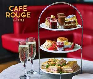 Afternoon Tea for Two at Café Rouge for £19 for two (£9.50pp) or with Prosecco for £12.50pp -  Multiple Locations (Up to 24% Off) @ Groupon
