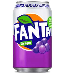 Fanta Grape (Zero added sugar) 330ml x 24 can pack, 3 packs for £18 at Farmfoods Normanton WF6 but maybe nationwide.