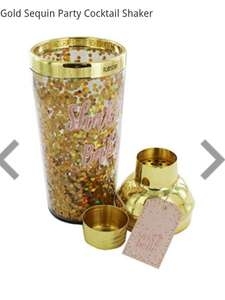 Sass & Belle Gold Sequin Party Cocktail Shaker £6, Was £21, @ The Works, Free c&c