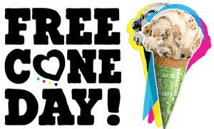 Ben and Jerry Free Cone Day - April 9th 12PM - 8PM