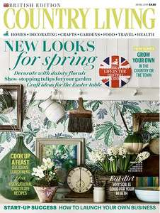 6 Issues of Country Living Magazine for £6.00 + £4 quidco cashback and free mug at Hearst magazines