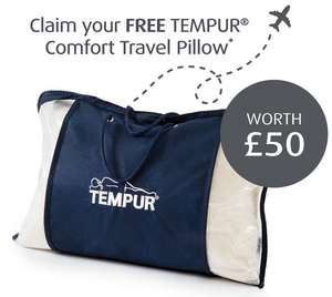 Free Tempur Comfort Travel Pillow at participating stores