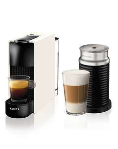 Nespresso Essenza with Aeroccino in white £98.70 delivered with voucher code @ jdwilliams