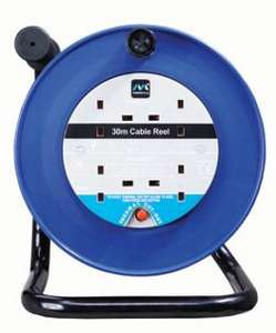 Masterplug 4 Socket Thermal Cut-Out Open Cable Reel - Blue 30m for £20 @ Wickes (Free C&C)