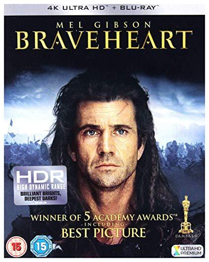 Braveheart 4k blu-ray Dolby Vision & Dolby Atmos - £12.99 (Prime) £15.98 (Non Prime) @ Amazon