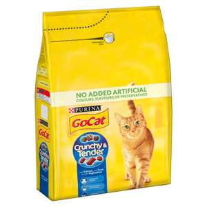 Go-Cat Crunchy and Tender Dry Cat Food Salmon 3kg - Case of 4 (12kg) RRP £39.96 NOW £21.35 delivered using code BIGTHANKS at Amazon