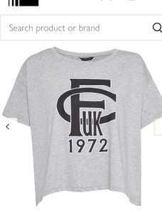 French Connection logo T-shirt grey/black £7.50 Was £25 @ John Lewis & Partners online, c&c £2