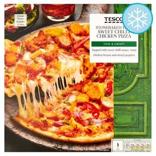 Tescos Sweet chilli chicken Stonebaked Pizza 38p @ Tesco Royston