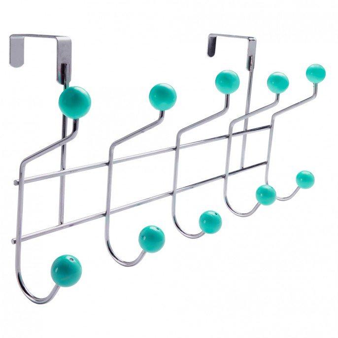 10 Hook Over Door Rack : Teal / Purple / Green / Cream Now £1.79 @ Poundstretcher