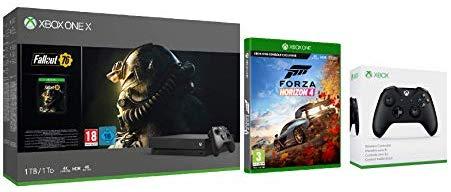 Xbox One X 1TB console Fallout 76 bundle + Forza Horizon 4 + Official Xbox Wireless Controller - Black - £404.99 @ Amazon