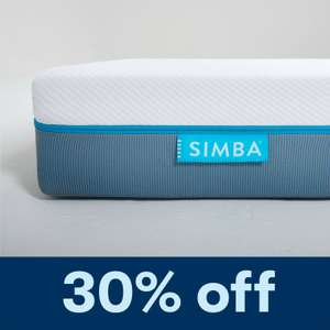 30% off refurbished Simba Mattresses + further 10% off with code - e.g. King Size for £170.10 with code @ Simba eBay store