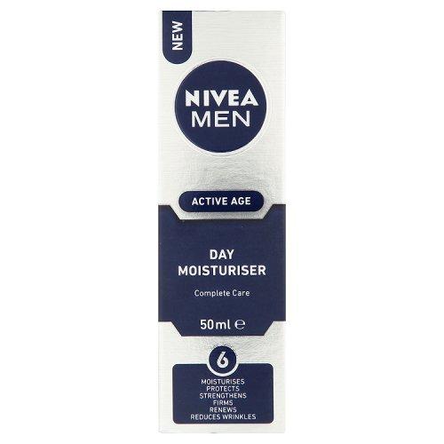 NIVEA MEN Active Age Face Moisturiser, 50 ml £4.50 (Prime) £9.99 (Non Prime) @ Amazon