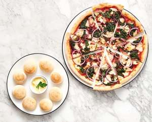 Choice of any Starter and a Classic or Leggera pizza, Salad, or Al Forno dish for two at PizzaExpress £24.95 (£12.48pp) @ Groupon