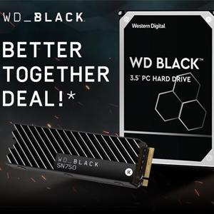 Pre-Order - WD 500GB SN750 NVMe SSD w/heatsink & 1TB WD Black HDD £147 // 1TB SN750 + 2TB HDD £250 with code @ Western Digital