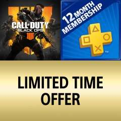PlayStation Plus PS+ 12 Months + Call of Duty Black Ops 4 Bundle £40.78 from PlayStation PSN Store Indonesia