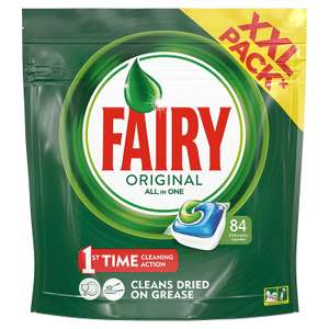 Fairy Original All In One Dishwasher Tablets, 84 Tablets @ Amazon - £10 Prime / £14.49 non-Prime