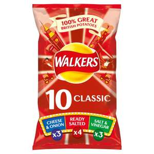 Walkers Classic Variety Case Pack Crisps 10 x 25 g Case of 10 @ Amazon £6.90 Prime £11.39 Non Prime