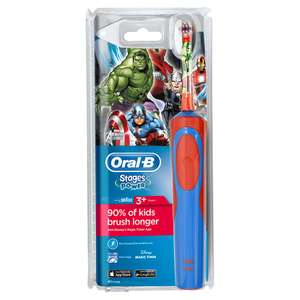 Oral-B Avengers Rechargeable Toothbrush Was £17.99, then £15.99  Now £13.59 w/code free C&C @ Robert Dyas & Ryman Stores - 2 Year Guarantee