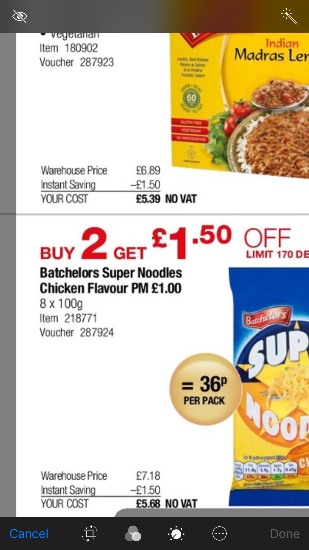 36p Batchelors super noodles at Costco