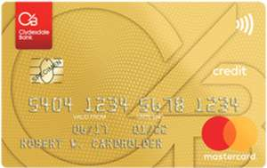 Clydesdale Bank Gold Mastercard 0% interest free on purchases for 26 months