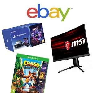 LIVE - Today Only until 8pm - 15% off Electronics at eBay on £20+ Spends - inclu TVs / Gaming / Computers / Phones & More [Max discount £50]
