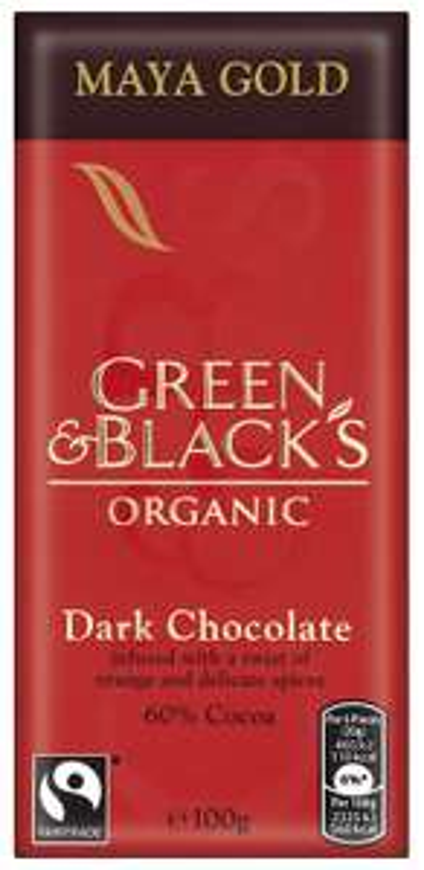 Green & Black's Organic Maya Gold Dark Chocolate Bar, 100g (Pack of 5) £2.29 @ Amazon (addon)