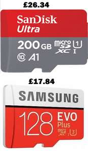 128GB Micro SD SDXC Samsung EVO Plus UHS-I U3 Card  for £17.84 (Sandisk 200GB for £26.34) Delivered w/c @ Ebay Picstop