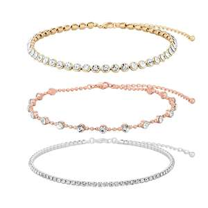 Mood - Mixed plate clear 3 pack choker necklace @ Debenhams. Was £18, Now £5.40