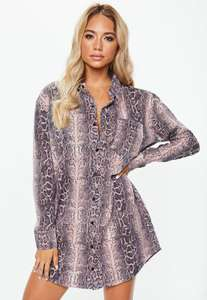 25% off everything exc sale with code + 99p c&c or £1.99 delivery + Free Returns eg Snake print shirt dress was £20 now £15 @ Missguided