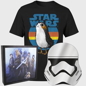 Pre-Order - Star Wars Porg T-Shirt, Stormtrooper Mirror & Luminart Print £19.99 Delivered w/code @ IWOOT [Men's Women's & Kid's sizes]