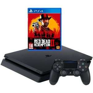 Sony Playstation 4 Slim 500GB PS4 Console + Red Dead Redemption 2 - £194.65 - New & Free Delivery @ AO ebay store - using PLAY15 code.