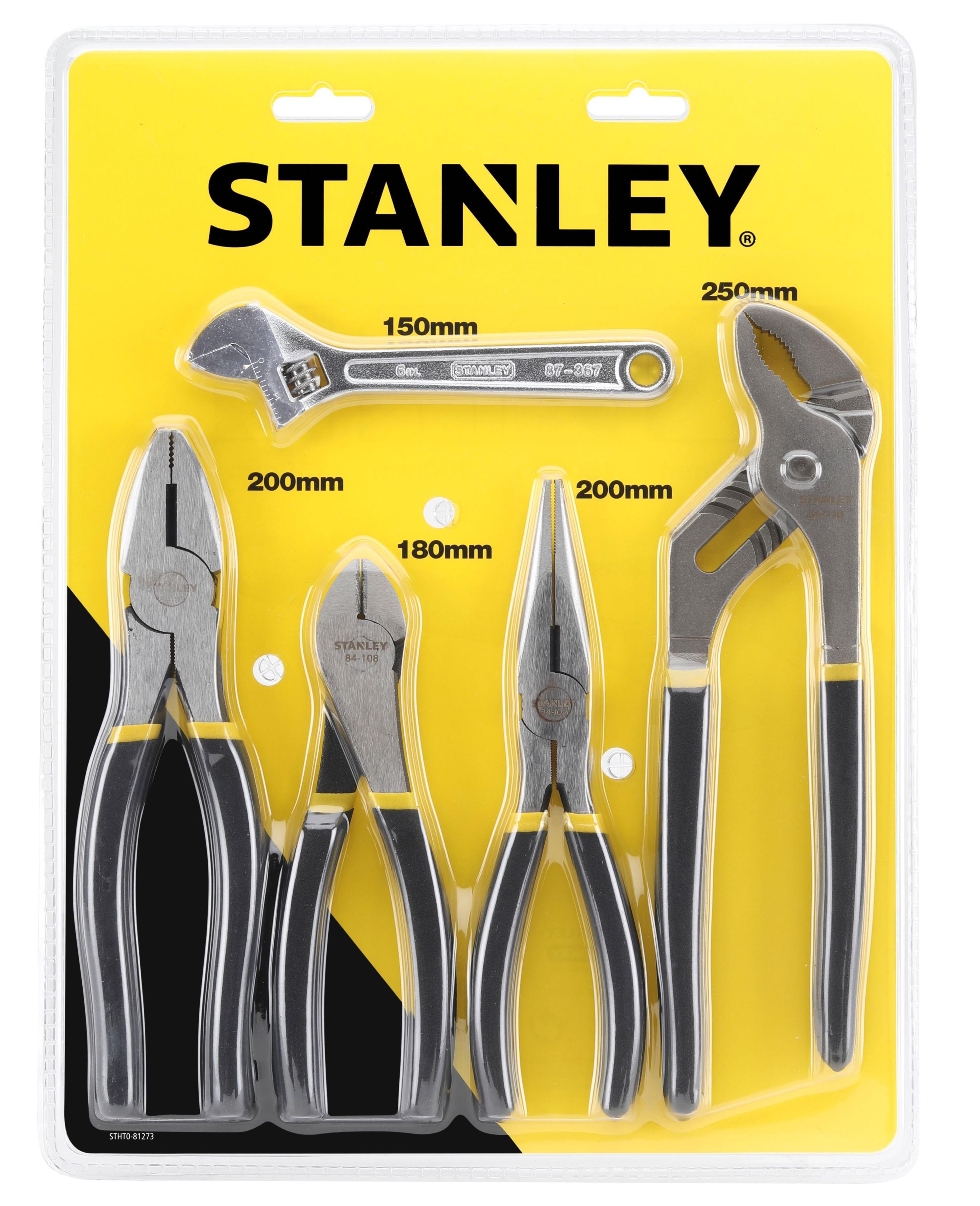 Stanley 4 Piece Steel Pliers Set for £10 @ B&Q (Free C&C)