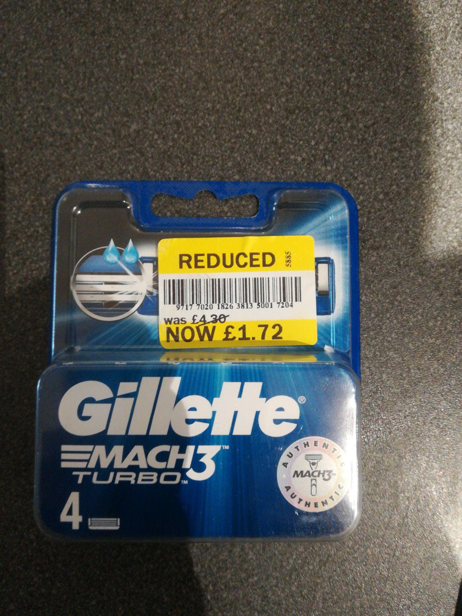 4 X Gillette Mach 3 Turbo blades - £1.72 instore @ Tesco (Liverpool)